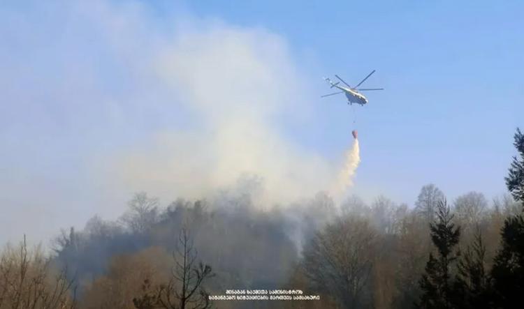 Slider-Gürcüstanda meşə yanğınının miqyası genişlənib - Helikopter və 120 yanğınsöndürən cəlb olunub